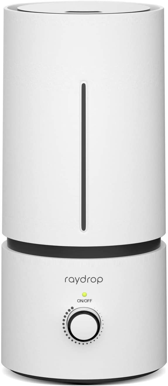 raydrop Cool Mist Humidifiers for Babies , 1.70 L Quiet and Small Ultrasonic Humidifier for Bedroom Nightstand, Space-Saving, Auto Shut Off-(0.45 Gallon, US 110 V