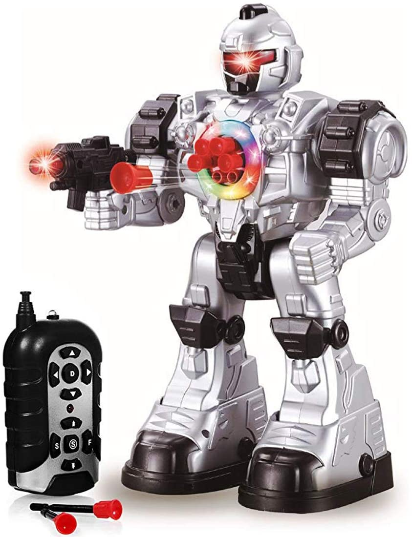 "Steel Wolf Ares Beast Ares deAO RC Robot ""Beast Ares"" with Multiple Actions Sounds Lights and Effects Includes Plastic Darts"