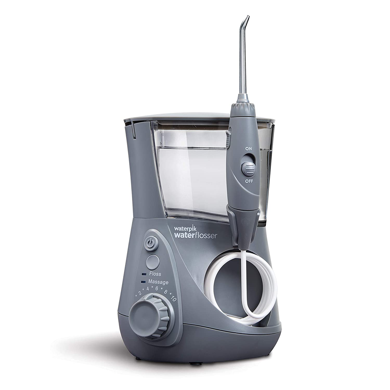 Waterpik WP-667 Water Flosser Electric Dental Countertop Professional Oral Irrigator For Teeth, Aquarius, Modern Gray