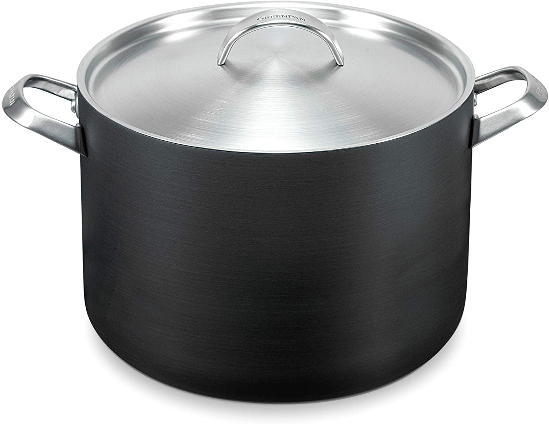 GreenPan Paris 8 Quart Non-Stick Dishwasher Safe Ceramic Covered Stockpot, Gray -