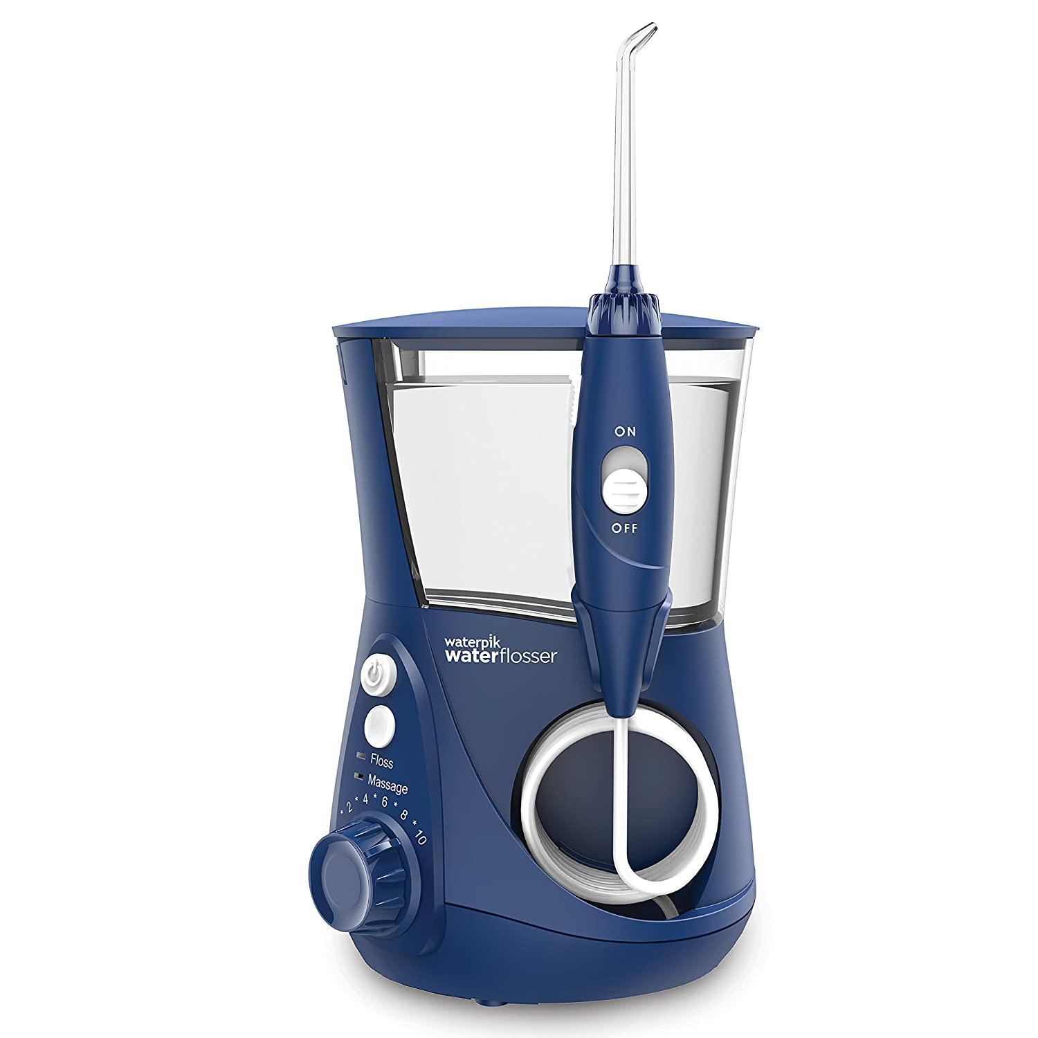 Waterpik WP-663 Water Flosser Electric Dental Countertop Professional Oral Irrigator For Teeth, Aquarius, Blue