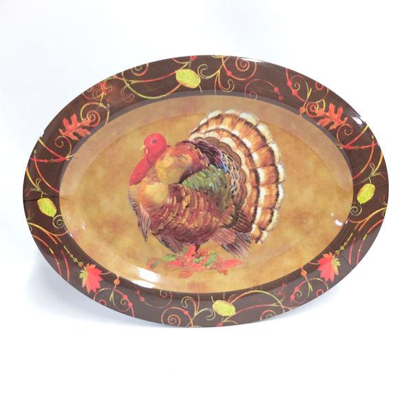 "Melamine 18"" Turkey Platter"