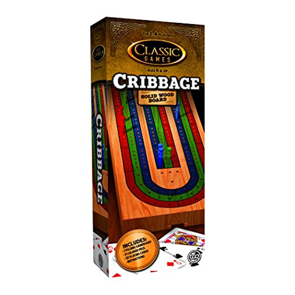 TCG Toys Solid Wood Cribbage Board Game