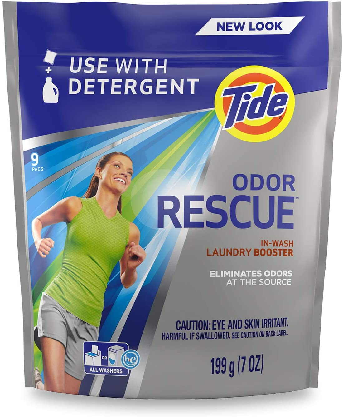 Tide Odor Rescue In-Wash Laundry Booster Pacs, 9 count (H&PC-86906)