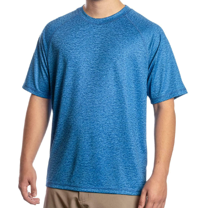 New Men's Zeroxposur Sun Protection Snorkel Space Blue T-Shirt Short Sleeves Size (Medium)