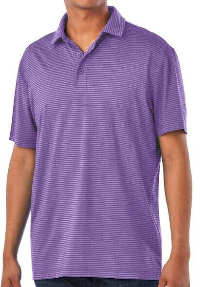 Member's Mark MeMember's Mark Men's Striped Performance Polo, Purple, Size (MEDIUM)