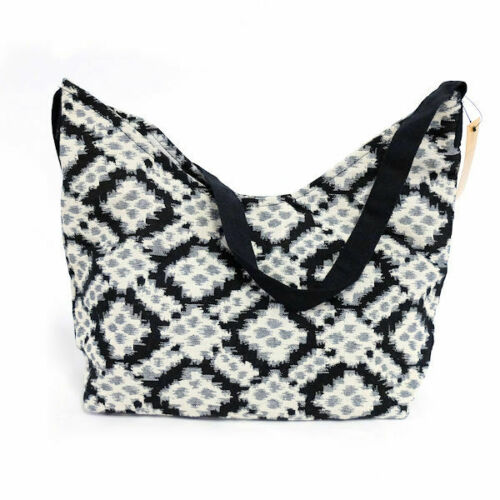 Gold Coast Black & White Bohemian Style Shoulder Bag