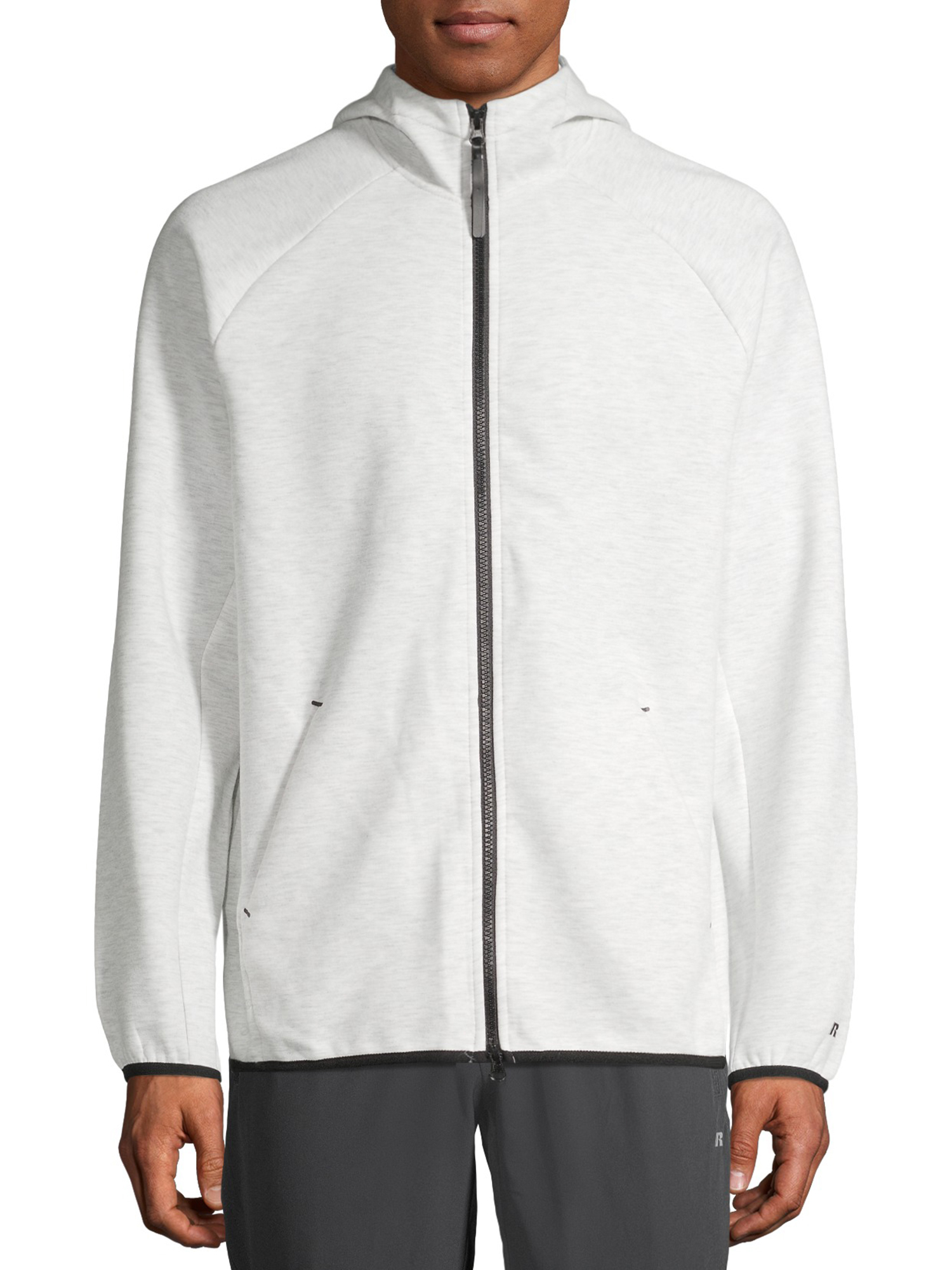 Russell Men's Active Fusion Knite Jacket White  Heather Size (M 38-40)