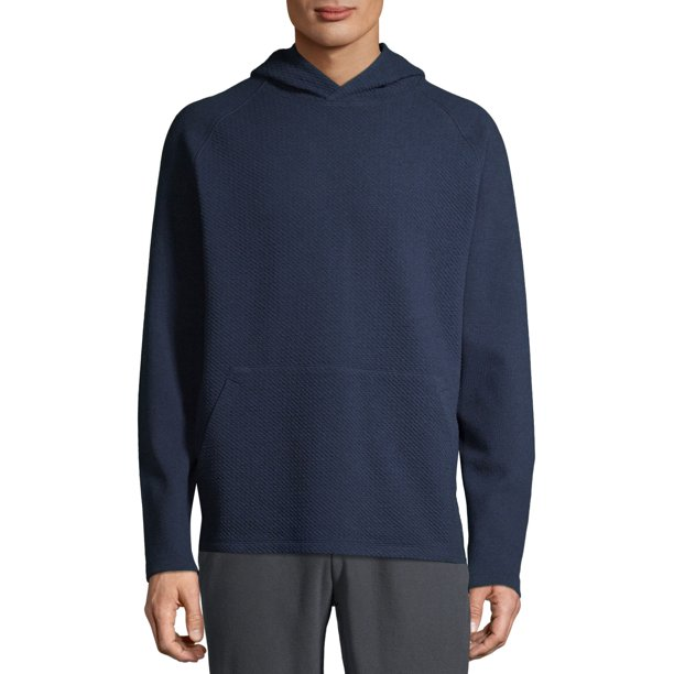 Russell Men's Textured Pullover Hoodie Blue Cove Heather Size (L/G 42-44)