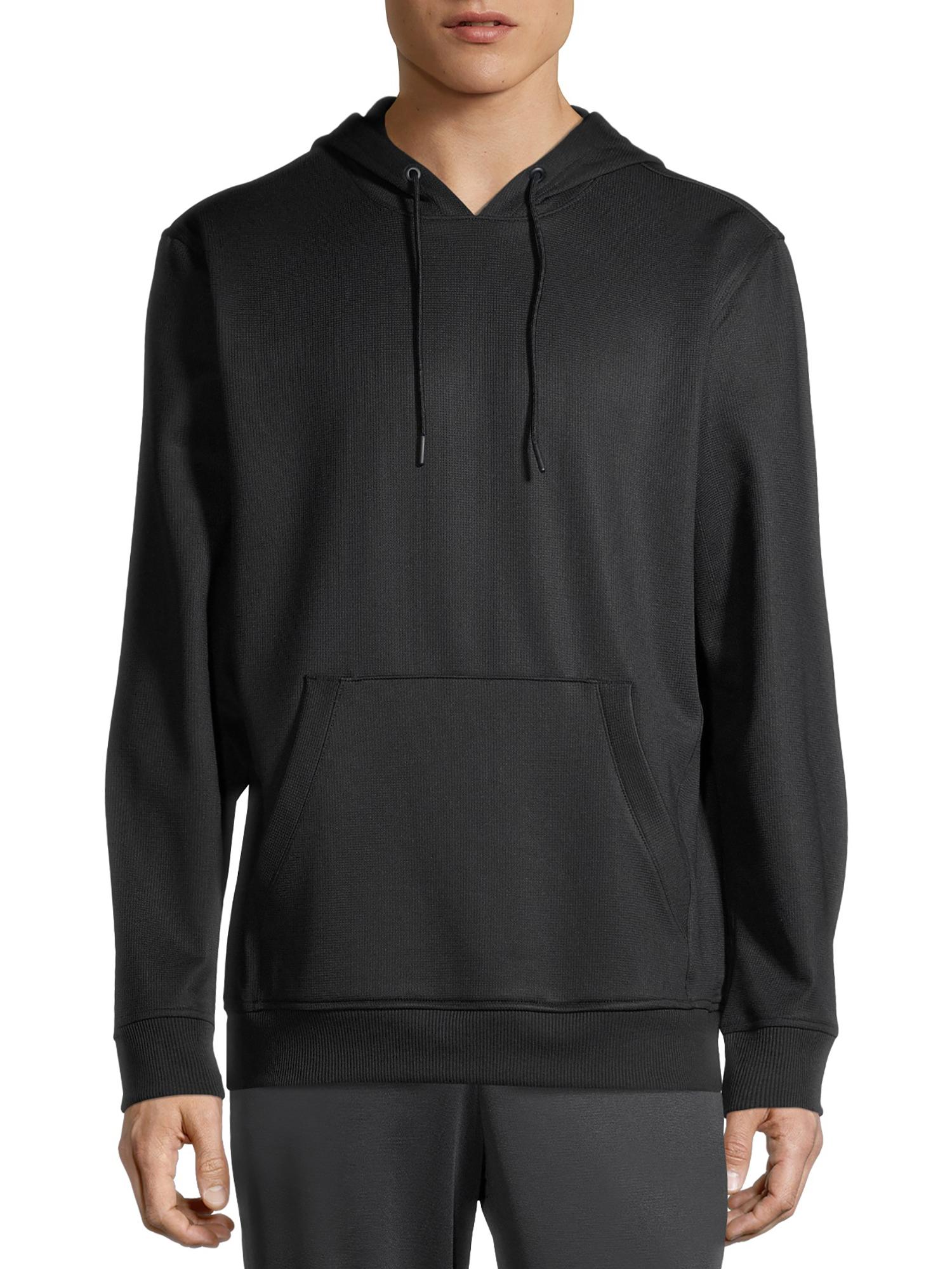 Russell Men\'s Active Tech Fleece Pullover Hoodie Textured Fleece Slate Grey Size (L/G 42-44)