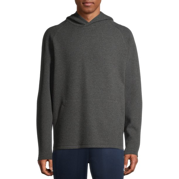 Russell Men's Textured Pullover Hoodie Greystone Heather Size (M 38-40)