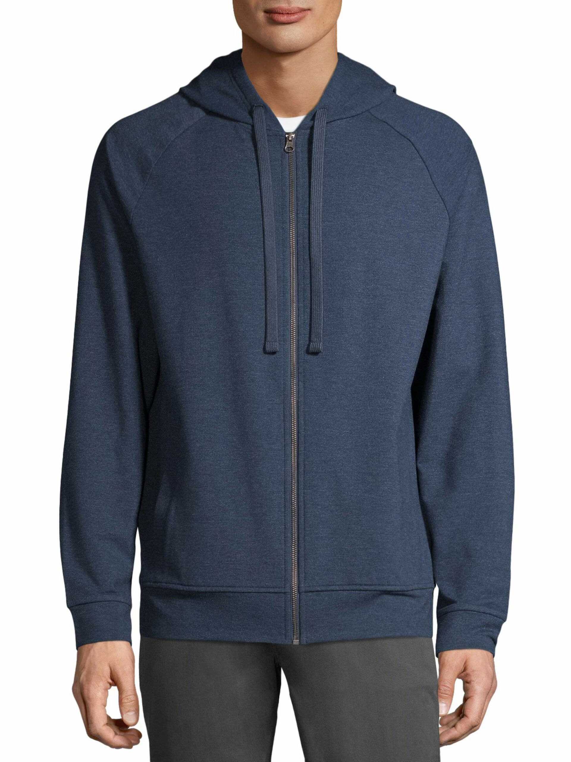 George Men's and Big Men's Fashion Full Zip Hoodie Blue Cove Heather, up to Size S/CH 34-36