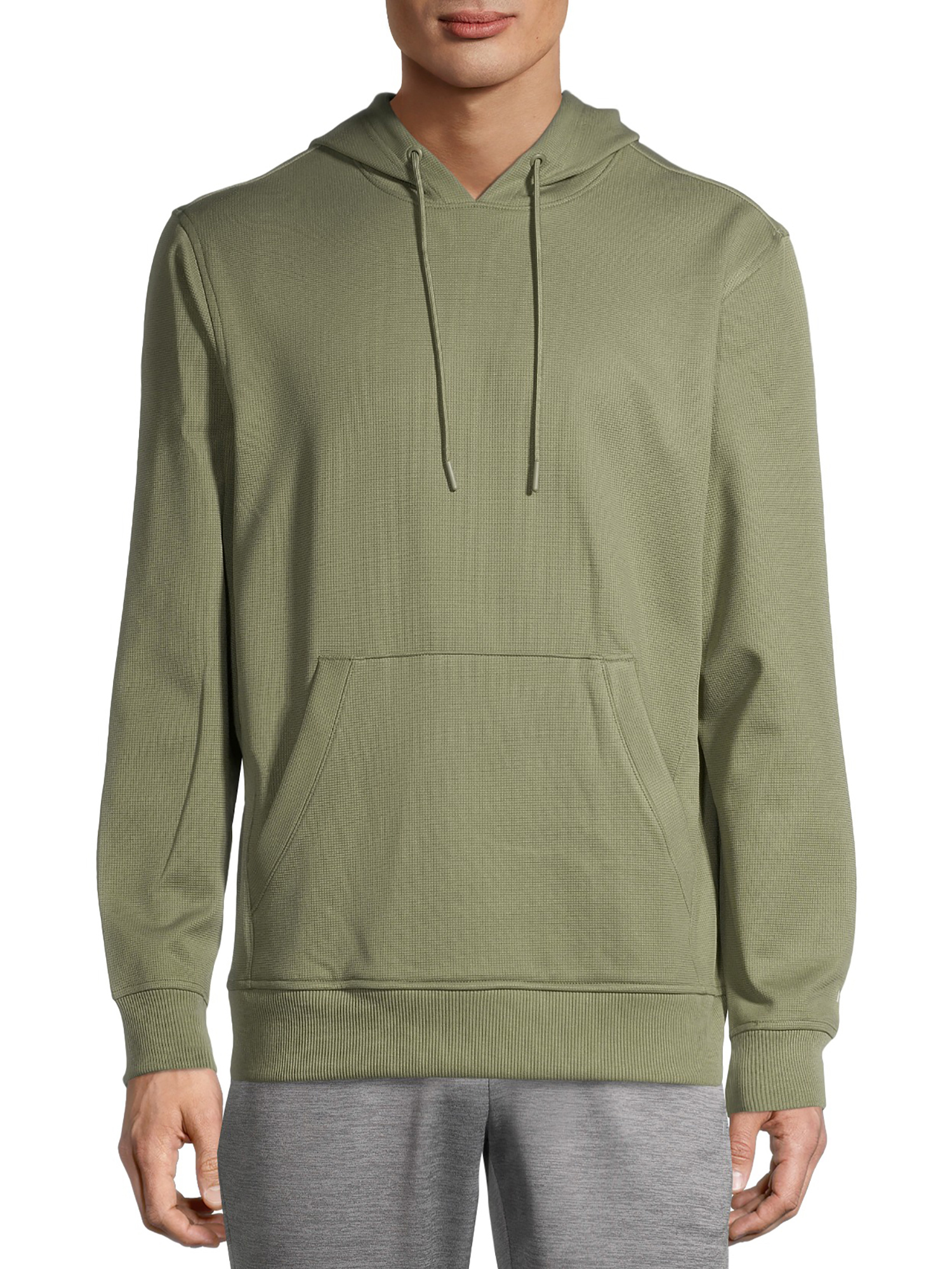 Russell Men's Active Tech Fleece Pullover Hoodie Textured Fleece Fog Size (L/G 42-44)