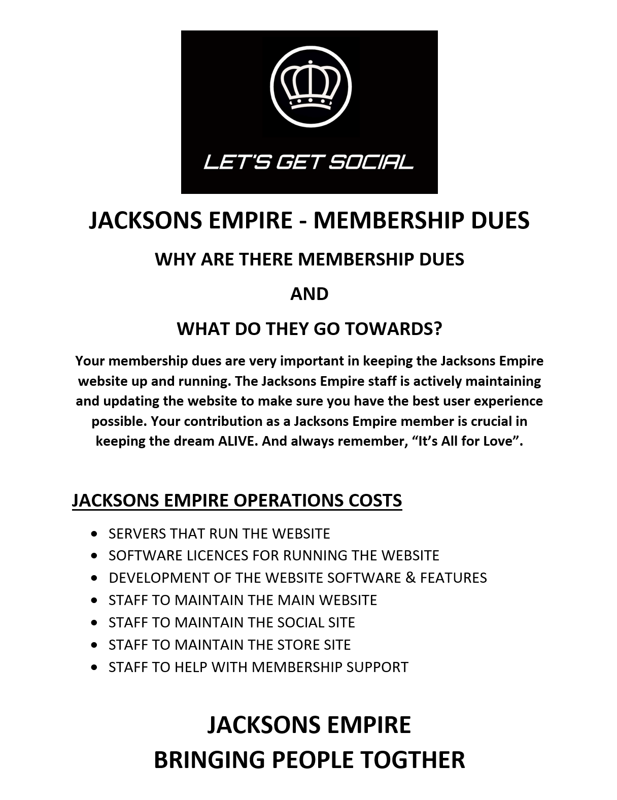 Membership Dues Explanied